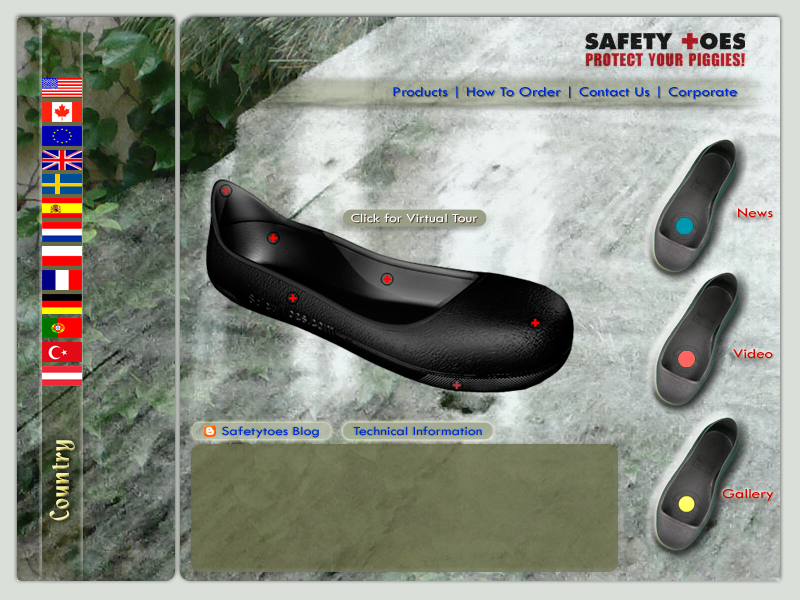 Safetytoes International Inc.: Safety toe shoes protection! An alternative to safety shoes, especially in situations where temporary safety shoes may be required, safetytoes have protective toe caps that slip over outer shoes. If risk assessments indicate the need for toe protection, due to the importance of workplace safety these safety toe overshoes can provide complete compliance similar to safety toe shoes or boots.